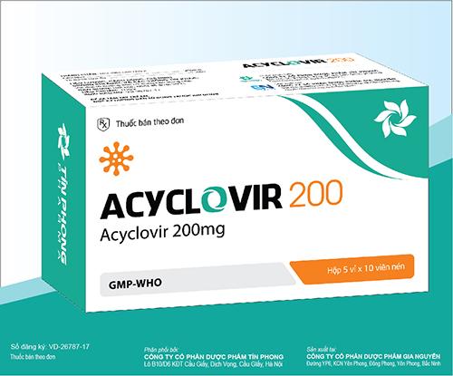 Thuốc Acyclovir 200