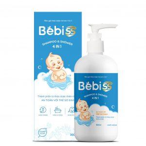 Tắm gội thảo dược trẻ em 4 in 1 BebiSS