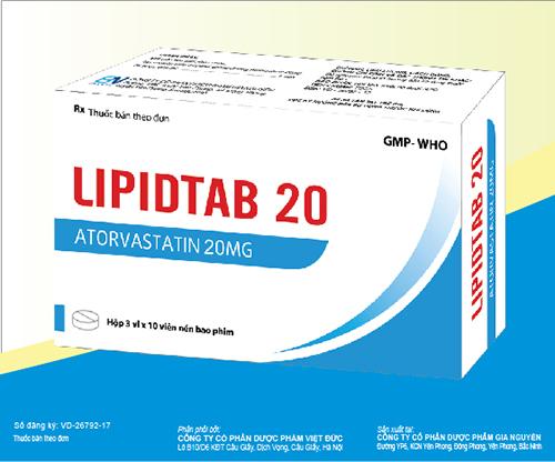 Thuốc Lipidtab 20