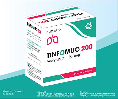 Thuốc cốm Tinfomuc 200