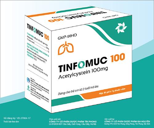 Thuốc cốm Tinfomuc 100