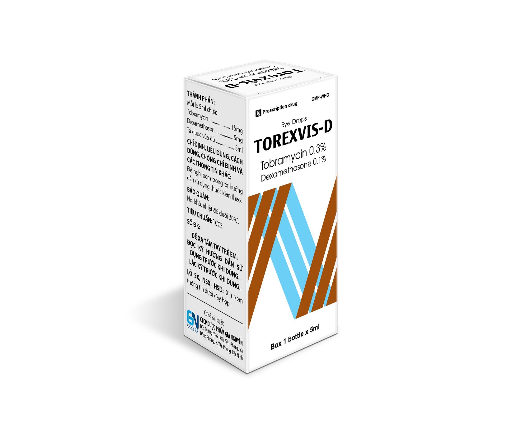 Thuốc nhỏ mắt Torexvis-D